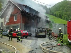 INTERVENCIJA: Požar stanovanjskega objekta Kopačnica 16.5.2015