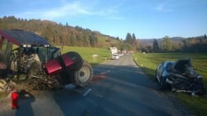 INTERVENCIJA: Prometna nesreča Hotavlje 24.10.2015