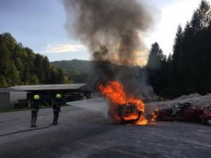 VAJA: Tehnično reševanje in požar vozil 8.7.2017