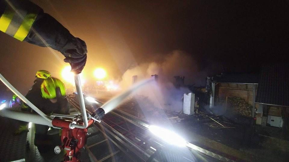 INTERVENCIJA: Požar stanovanjske stavbe – Stara Oselica 14.1.2018 (1)