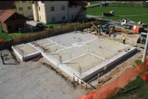 Gasilski dom: 1.-4. teden gradnje
