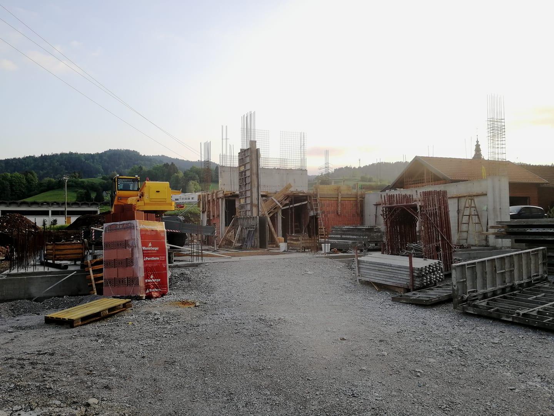 Gasilski dom: 5. in 6. teden gradnje