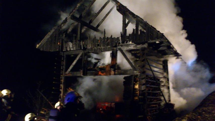 INTERVENCIJA: Požar kozolca 12.1.2012