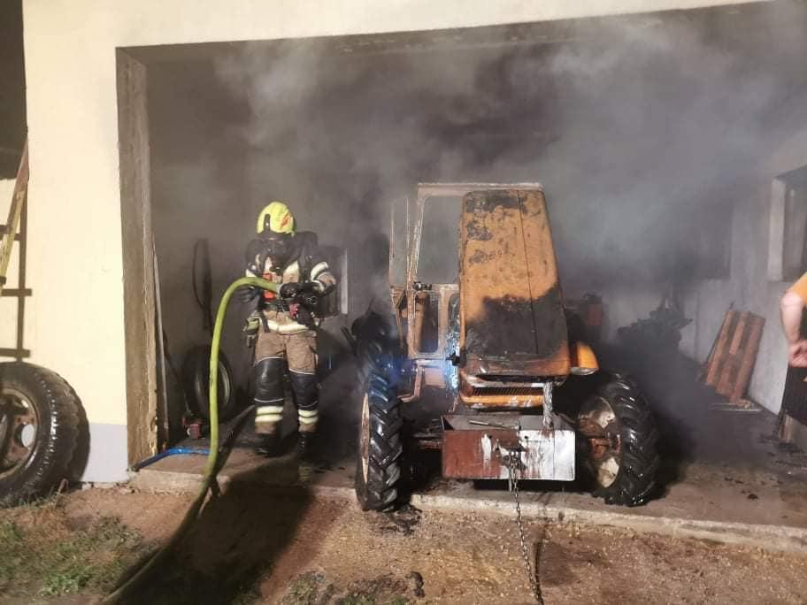 INTERVENCIJA: Požar na delovnem stroju – 6.7.2020 (9)
