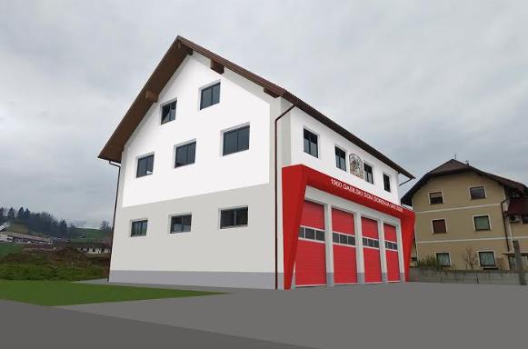 Gradnja gasilskega doma v Maju 2020