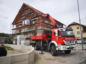 Gradnja gasilskega doma v Aprilu 2020