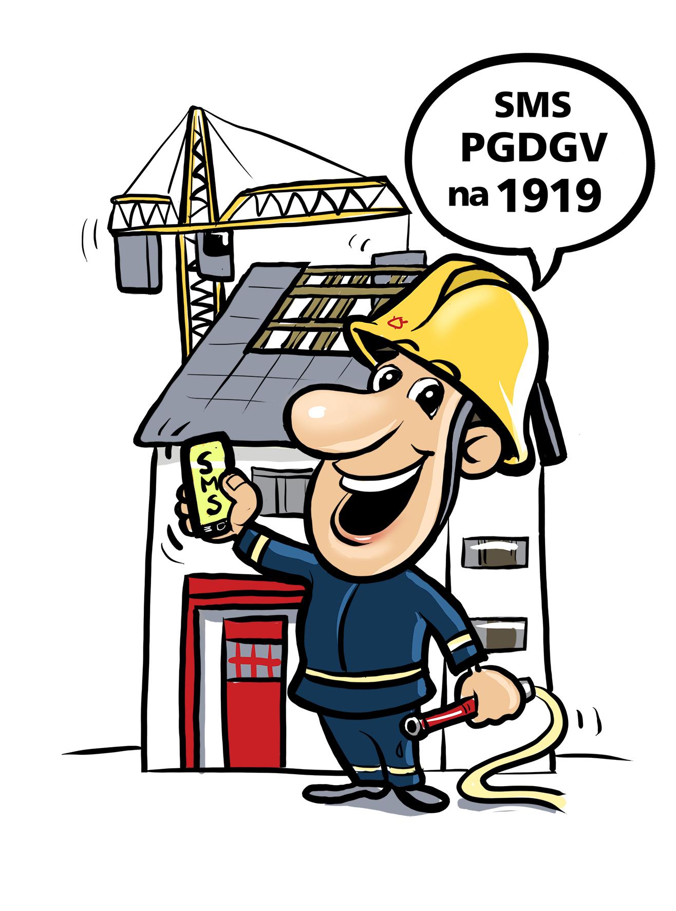 """Pošljite SMS z vsebino """"PGDGV"""" na 1919 in nam prispevajte 1€ za izgradnjo novega gasilskega doma!"""