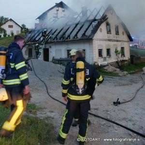 INTERVENCIJA: Požar stanovanjskega objekta  Lučine 29.6.2010