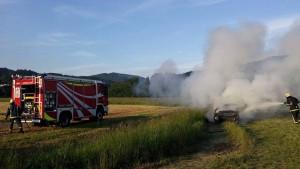VAJA: Prometna nesreča in požar vozila 21.5.2016
