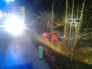 INTERVENCIJA: Prometna nesreča Hobovše 27.12.2013